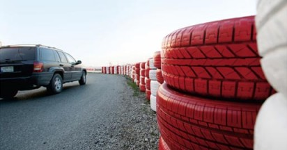 Bridgestone Tire Safety Wall