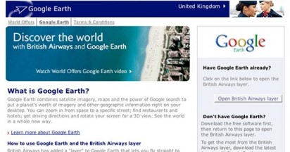 British Airways Google Earth Leaving on a Jet Plane