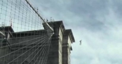 Reese Brooklyn Bridge Stunt