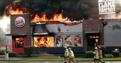 Burger King Burning Stores