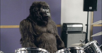 Cadbury Gorilla Plays Drums For Phil Collins