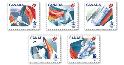 Canada Post Winter Olympic Stamps