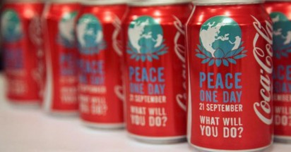 Coca Cola Peace One Day Cans launched