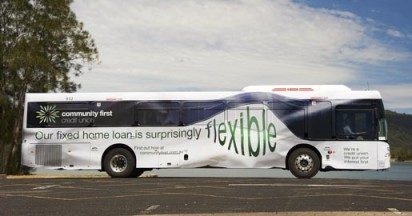 Community First Credit Union Flexible Bus