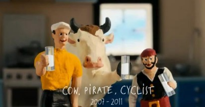 Cravendale Farewell Cow Pirate and Cyclist
