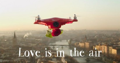 Cupidrone Valentines Day Delivery