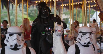 Darth Vader goes to Disneyland
