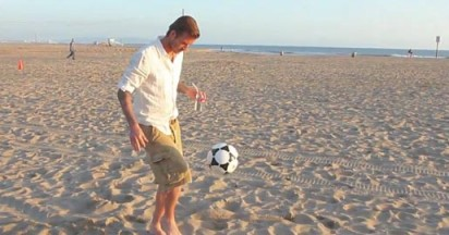 David Beckham on the Beach with Pepsi