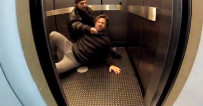 Dead Man Down in the Elevator