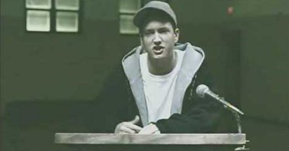 Eminem at recovery meeting in When I'm Gone