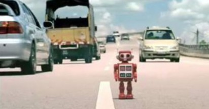 Eveready Robot Comes Home