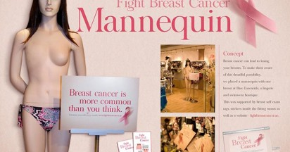 One Breasted Mannequin Fights Breast Cancer
