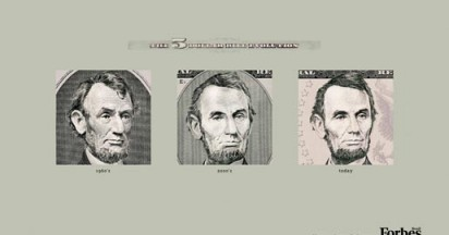 Evolution of the Dollar Bill
