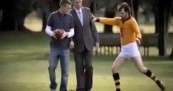 Francis Bourke in Toyota AFL Legendary Moment