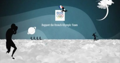 French Olympic Team in the Clouds