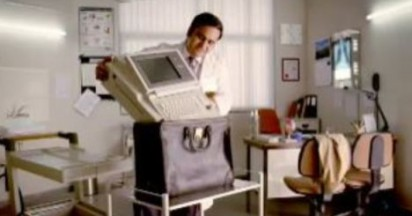 GE Electrocardiogram in a Backpack