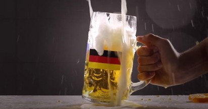 Germany World Cup Winner celebrates with Beer