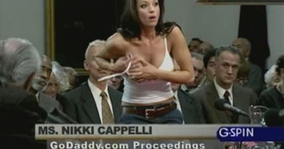 Nikki Cappelli in GoDaddy.com Super Bowl Entries