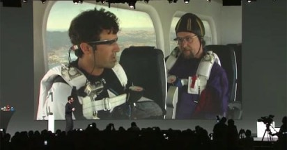 Project Glass Skydiving Demo at Google I/O 2012