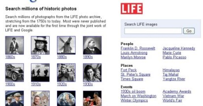 Time Life Images in Google Photo Gallery