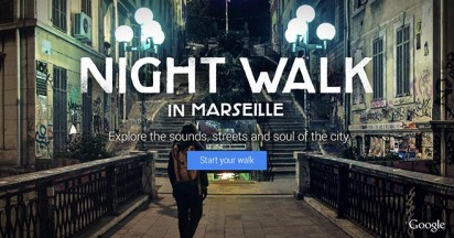 Google Night Walk in Marseille