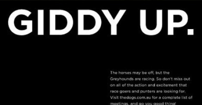 Greyhound Racing Giddy Up Answer to Horse Flu