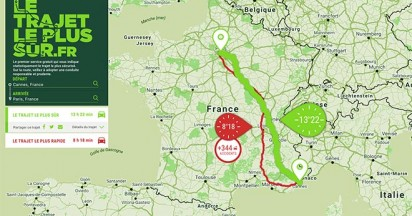 Groupama Safest Route connected in France
