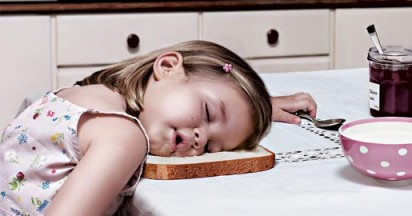 Little Girl Snoozes on Harrys Bread