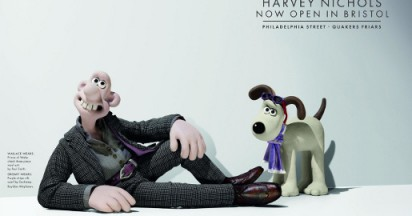 Wallace and Gromit at Harvey Nichols in Bristol