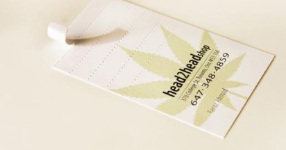 Head2Head Smokeable Business Cards