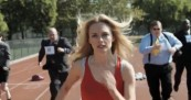 Heather Graham vs Insurance Companies in Track Meet