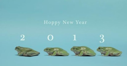Hoppy New Year Frogs for 2013