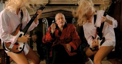 Hugh Hefner in Guitar Hero