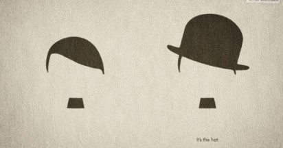 Hitler vs Chaplin for Hut Weber Hats
