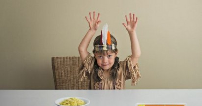 Latina Kids Pasta Dinnertime Battle is Over