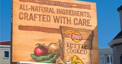 Lays Kettle Carved Billboard