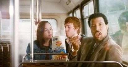 Lionel Richie in Walkers Campaign