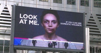 Interactive billboards address domestic violence