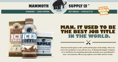 Mammoth Supply Yoghurt Made for Men