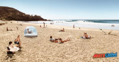 Mars Chilled on Australian Beaches