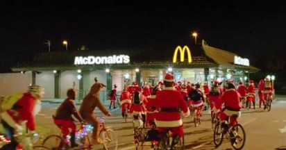 McDonald's Cycling Santas