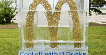 McDonalds Dollar Drink Days Ice Sculpture
