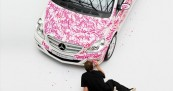 Mercedes Pink Ribbon Calligraffiti