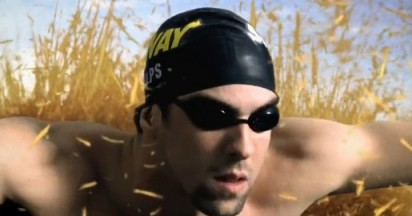 Subway sends Michael Phelps Landswimming