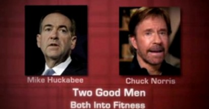 Mitt Romney Roundhouse Kick for Norris and Huckabee