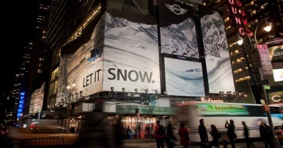 Mini Let It Snow in Times Square