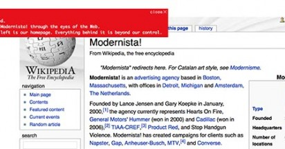 Modernista! on Web 2.0 Sites