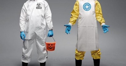 Ebola Hazmat Suit More Than a Costume
