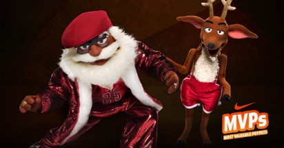 Nike MVPuppets with Santa Claus and Reindeer