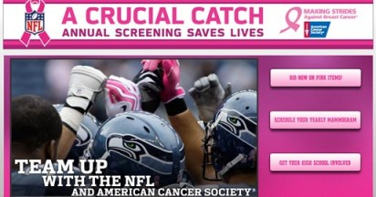 NFL Go Pink for A Crucial Catch